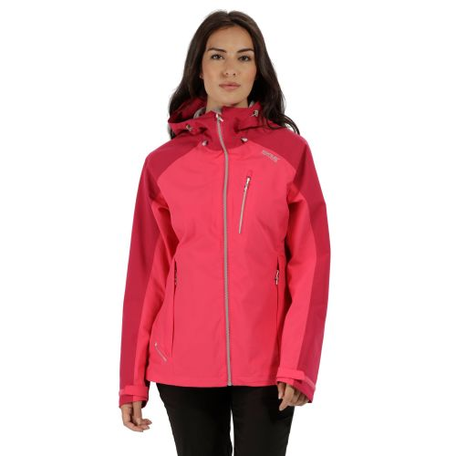 Regatta WOMEN'S BIRCHDALE WATERPROOF SHELL JACKET - Bright Blush / Dark Cerise